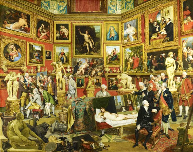 The Tribuna of the Uffizi (1772–77), Johan Joseph Zoffany. Royal Collection Trust, UK, © Her Majesty Queen Elizabeth II 2016