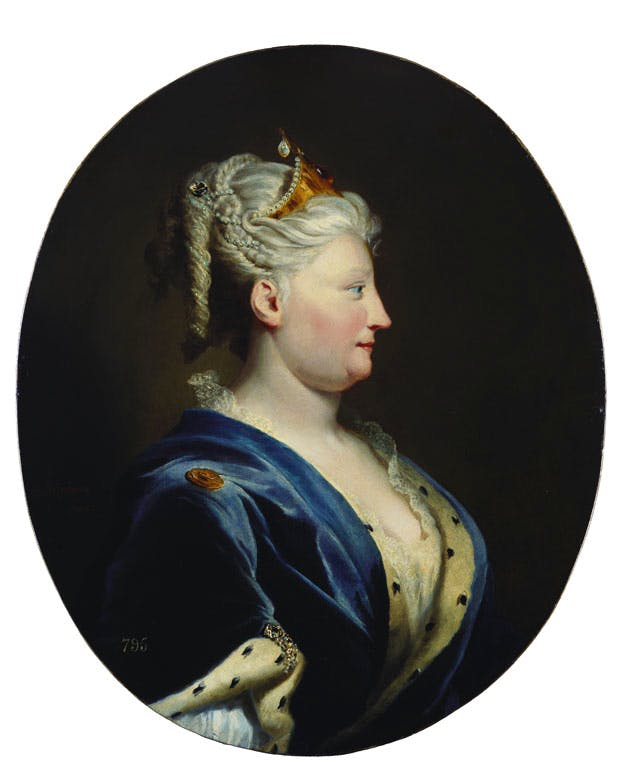 Queen Caroline of Ansbach (c. 1735), Joseph Highmore. Royal Collection Trust, UK, © Her Majesty Queen Elizabeth II 2016