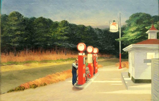 Gas (1940), Edward Hopper. Photo © 2016. Digital image, The Museum of Modern Art, New York/Scala, Florence