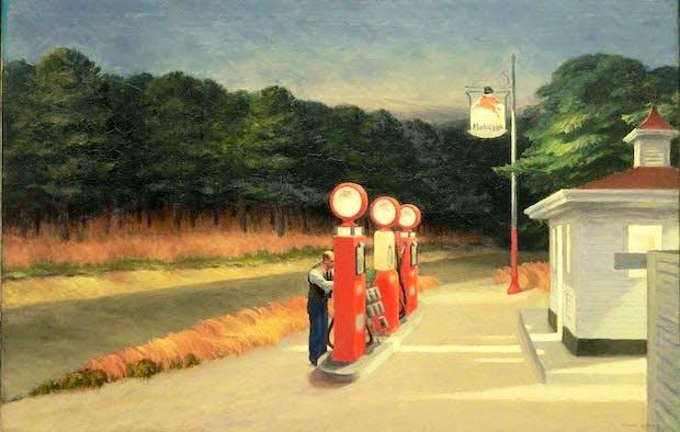 Gas (1940), Edward Hopper. Photo © 2016. Digital image, The Museum of Modern Art, New York/Scala, Florence