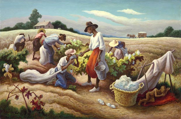 Cotton Pickers (1945), Thomas Hart Benton. © Benton Testamentary Trusts/UMB Bank Trustee/VAGA, NY/DACS, London