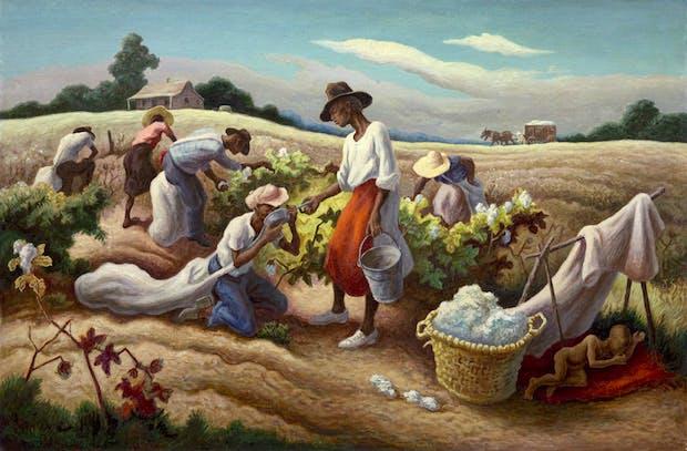 Cotton Pickers (1945), Thomas Hart Benton. © Benton Testamentary Trusts/UMB Bank Trustee/VAGA, NY/DACS, London