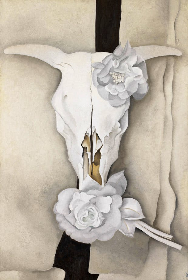 Cow's Skull with Calico Roses (1931), Georgia O'Keeffe. Photo: Alfred Stieglitz Collection, The Art Institute of Chicago / © Georgia O'Keeffe Museum / DACS 2016