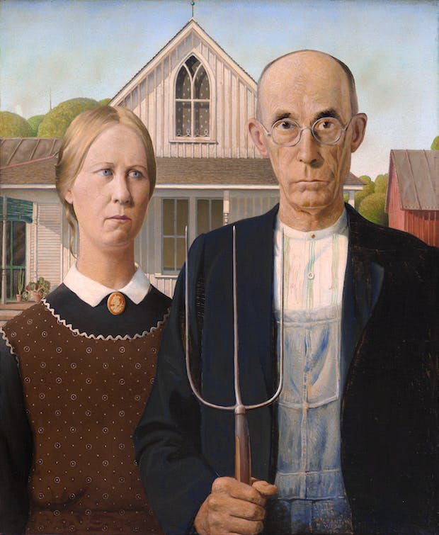 American Gothic (1930), Grant Wood. The Art Institute of Chicago