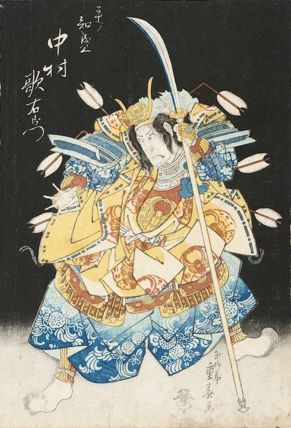Nakamura Utaemon III as Taira no Tomonori (1831), Ryusai Shigehara. Image Weisman Photo, Photograph courtesy of John E. Gilmore