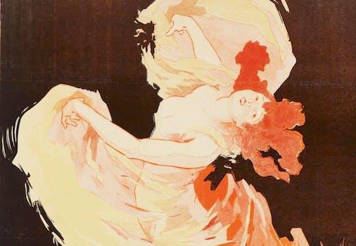 Detail of Folies-Bergère, La Loïe Fuller (1893), Jules Chéret.