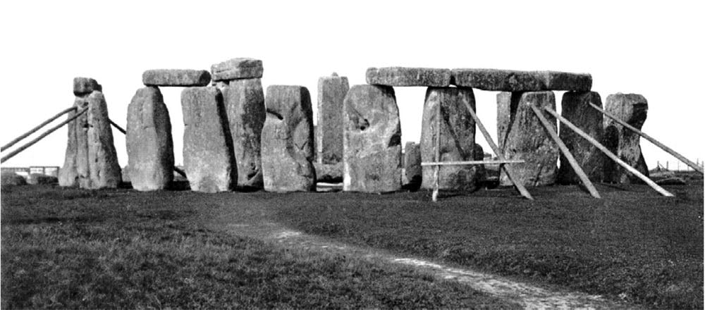 Propping Up Stonehenge (May 1919), English Heritage photographic collections