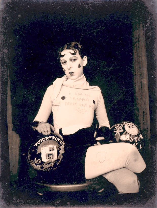I am in training don't kiss me (c. 1927), Claude Cahun. © Jersey Heritage