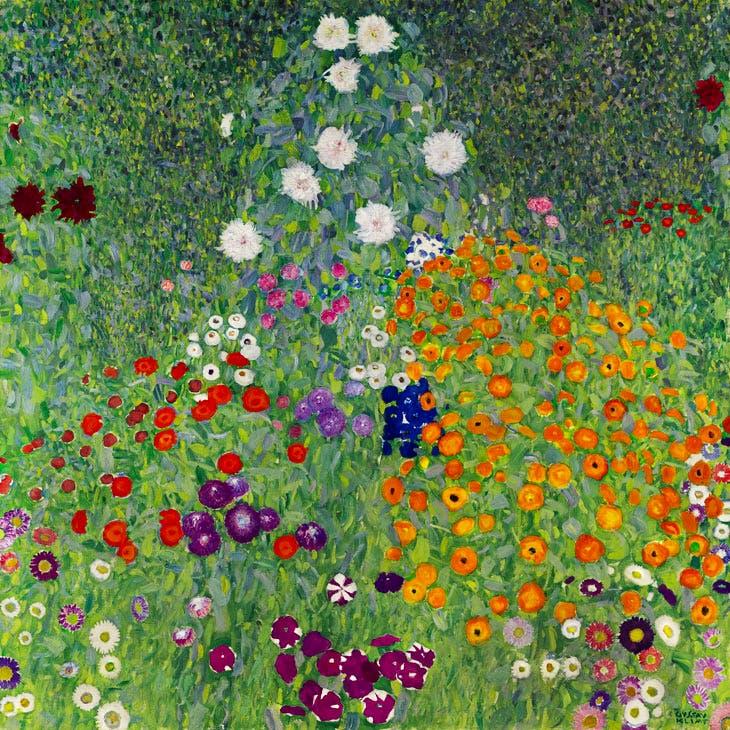 Bauerngarten (Blumengarten) (1907), Gustav Klimt. Sotheby's London, £48m