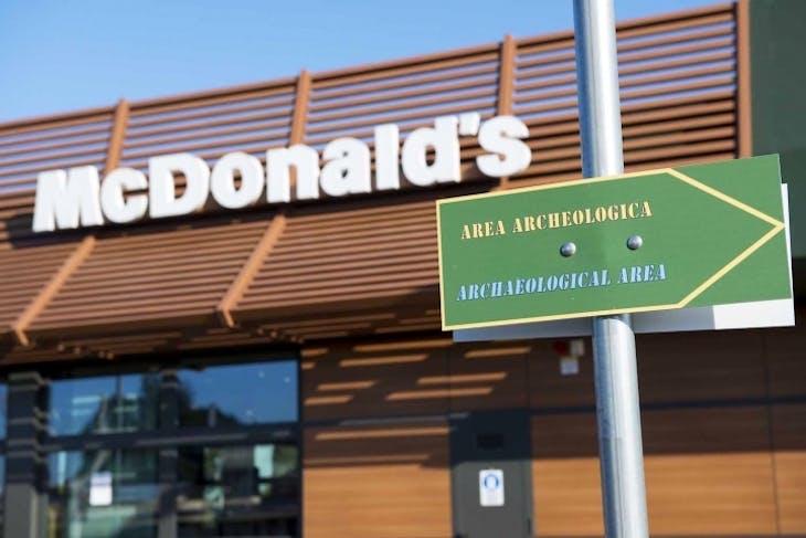 The McDonald's branch in Marino, Lazio