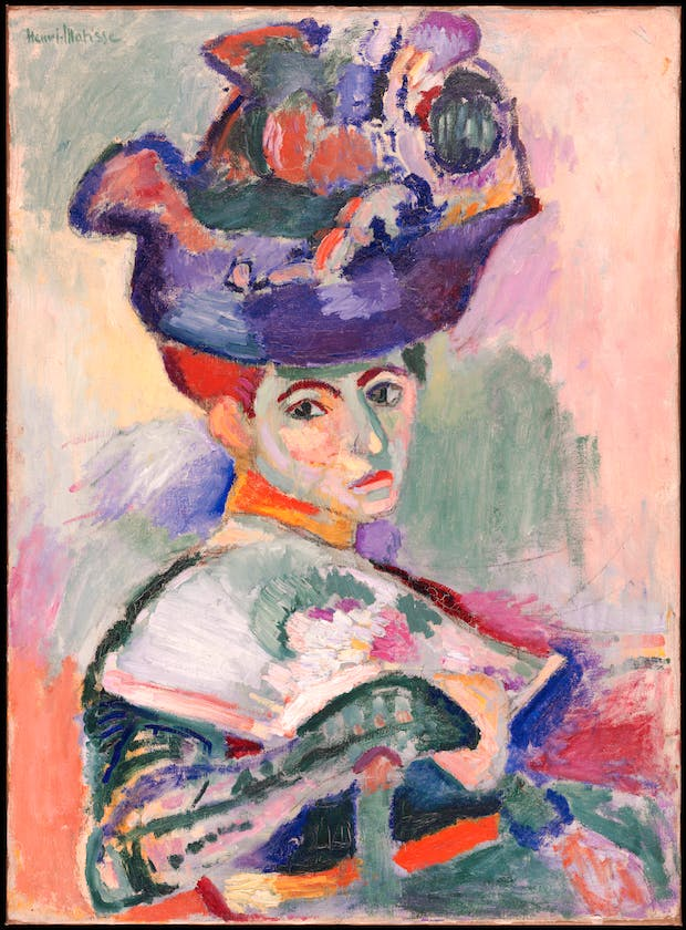 Femme au chapeau (Woman with a Hat) (1905), Henri Matisse. © Succession H. Matisse / Artists Rights Society (ARS), New York