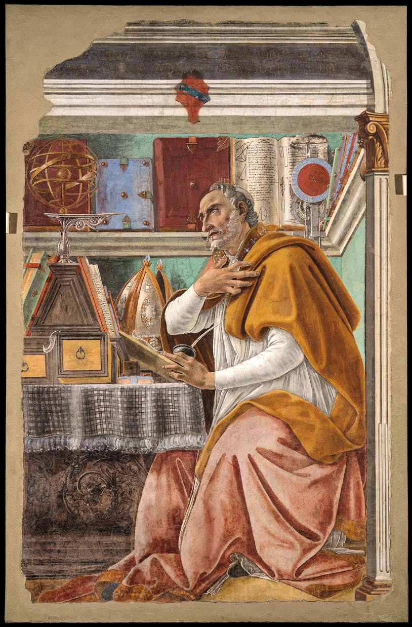Saint Augustine in his Study (c. 1480), Sandro Botticelli. Church of All Saints (Ognissanti)