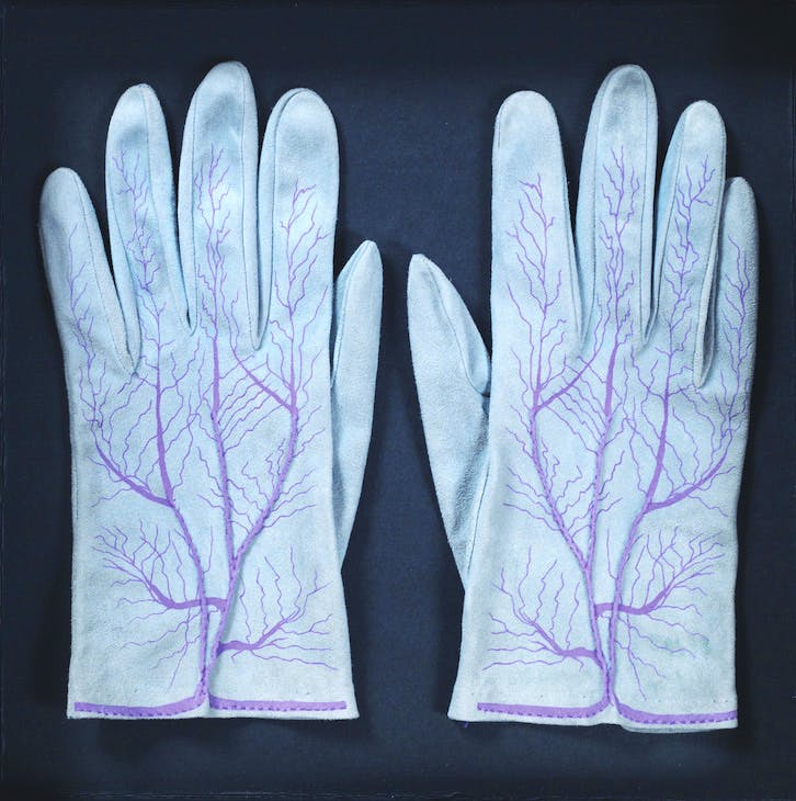 Handschuhe (Paar) (Gloves [Couple]) (1985), Méret Oppenheim. Private collection
