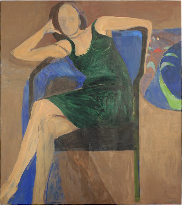 Seated Woman (1967), Richard Diebenkorn. © the Richard Diebenkorn Foundation