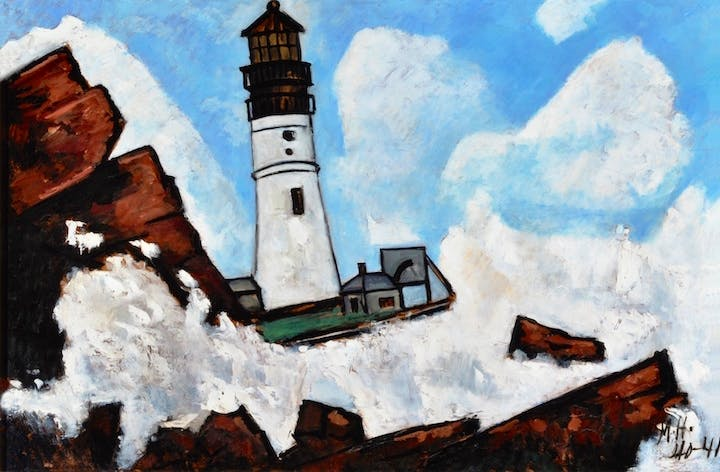 The Lighthouse (1940–41), Marsden Hartley. Collection of Pitt and Barbara Hyde