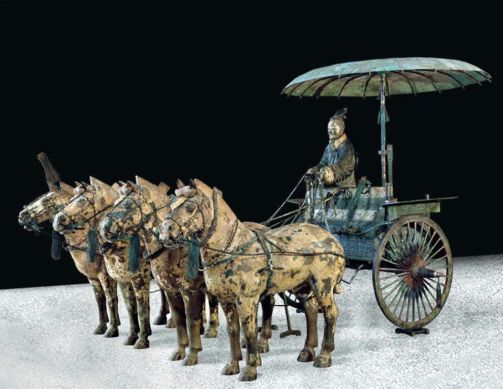 A modern replica of a Qin dynasty chariot. Photo: Courtesy Qin Shihuangdi Mausoleum Site Museum, Lintong