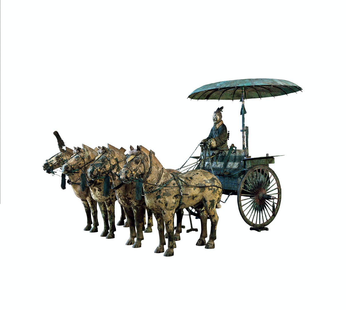Modern replicas of Chariot models from the Qin dynasty (221–206 BC). Photo: Courtesy The Metropolitan Museum of Art