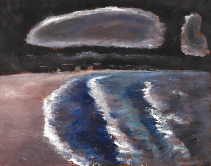 Storm Down Pine Point Way, Old Orchard, Maine (c. 1941–43), Marsden Hartley. Crystal Bridges Museum of American Art