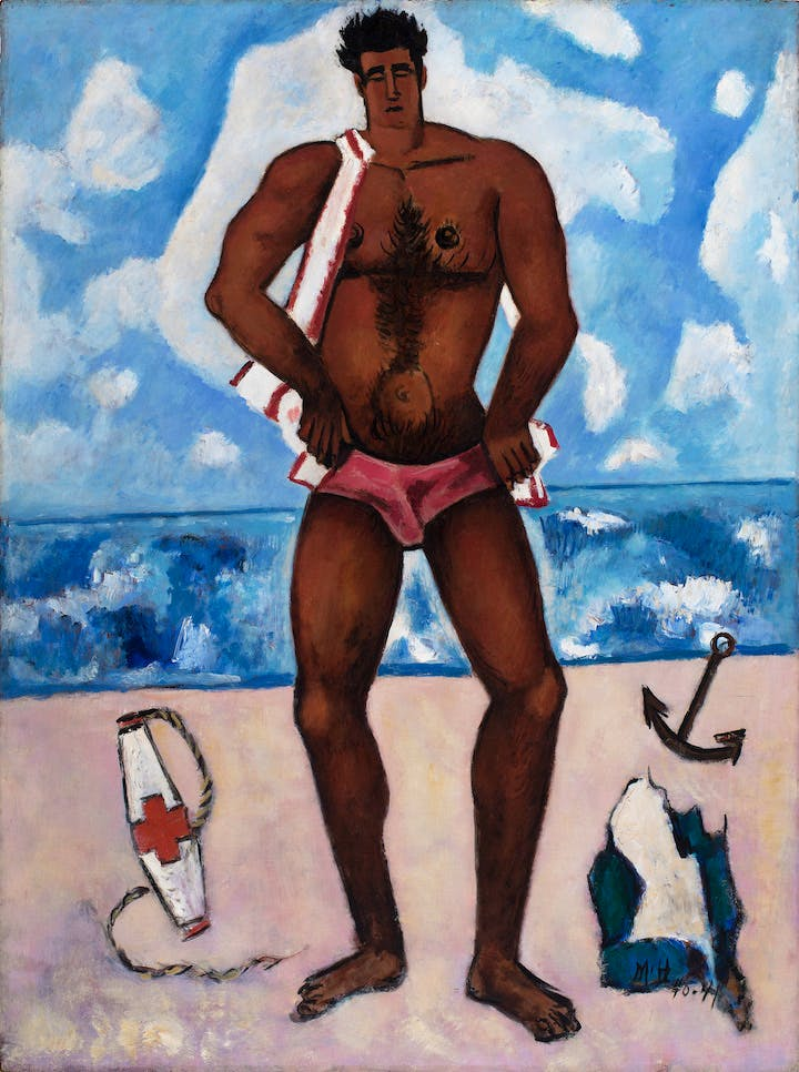 Canuck Yankee Lumberjack at Old Orchard Beach, Maine (1940–41), Marsden Hartley. Hirshhorn Museum and Sculpture Garden