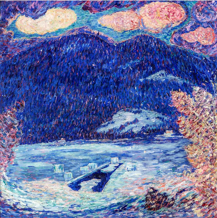 The Ice Hole, Maine (1908–09), Marsden Hartley. New Orleans Museum of Art