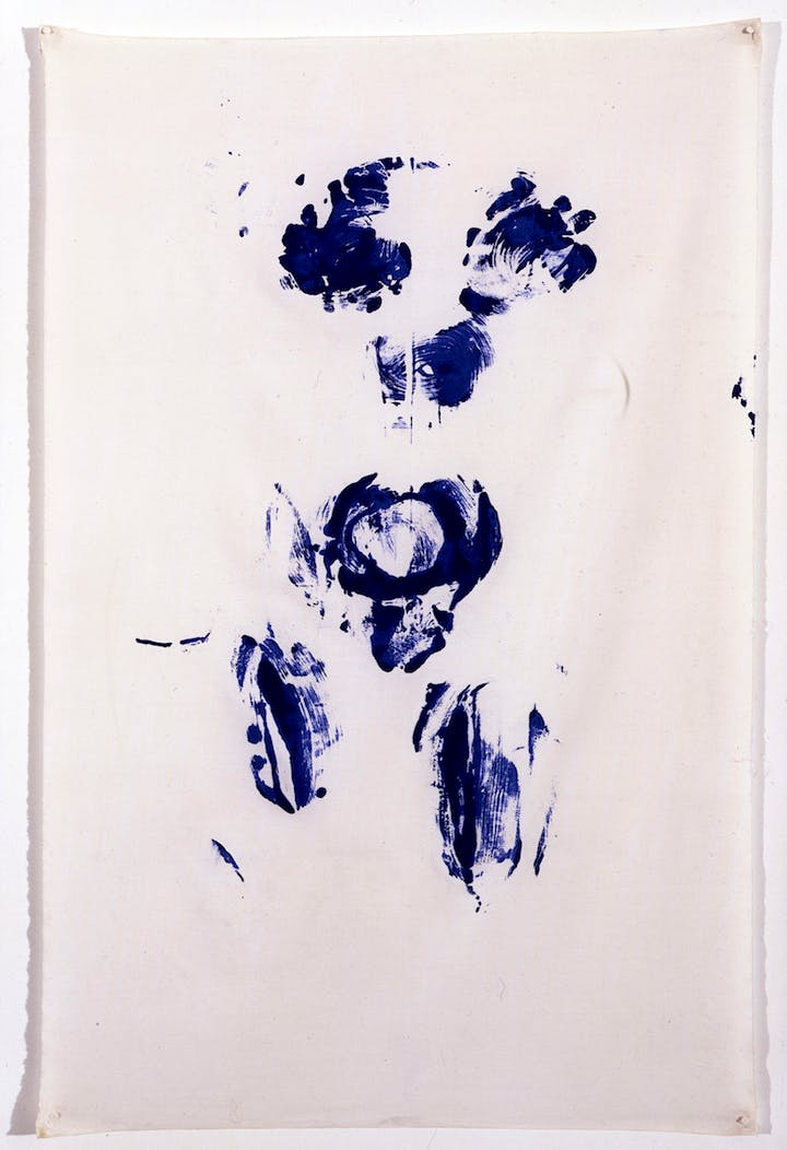 Untitled Shroud Anthropometry, (ANT SU 5) (1960), Yves Klein. © Yves Klein, ADAGP, Paris / SABAM, Bruxelles, 2017
