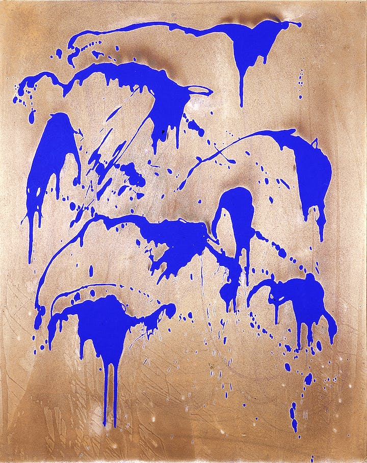 Untitled Color Fire Painting, (FC 28) (1962), Yves Klein. © Yves Klein, ADAGP, Paris / SABAM, Bruxelles, 2017
