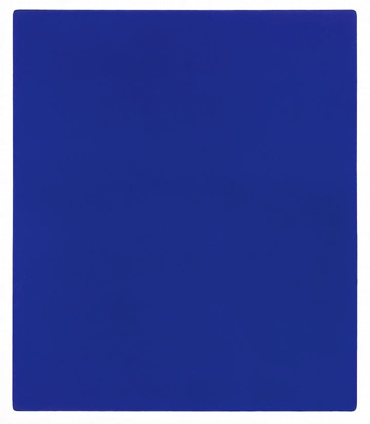 Untitled blue monochrome (IKB 79) (1959), Yves Klein. © Yves Klein, ADAGP, Paris and DACS, London 2016.