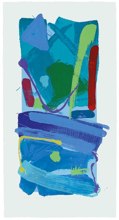 Blue Crayola (2016), Anthony Frost. Advanced Graphics London at the London Original Print Fair