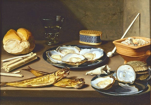 Still Life with Fish and Oysters (c.1625-1630), Floris van Schooten. Haarlem, Frans Hals Museum