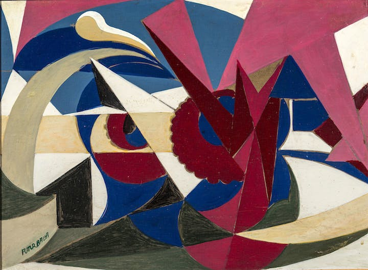 Lines of Force of an Enamelled Landscape (1917–18), Giacomo Balla. Courtesy The Biagiotti Cigna Collection