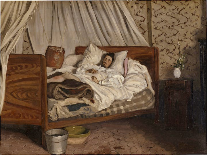 The Improvised Field Hospital (1865), Frédéric Bazille. © Musée d'Orsay, Dist. RMN-Grand Palais / Patrice Schmidt