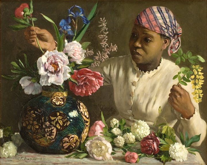 Young Woman with Peonies (1870), Frédéric Bazille. National Gallery of Art, Washington