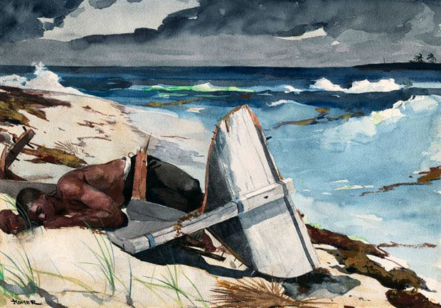 After the Hurricane, Bahamas (1899), Winslow Homer. Art Institute of Chicago