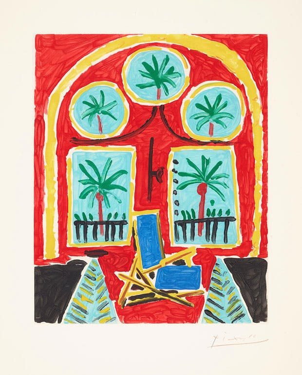 Le Californie (Intérieur rouge) (1959–60), after Pablo Picasso. Estimate: $6,000–8,000. Image courtesy of Phillips / Phillips.com