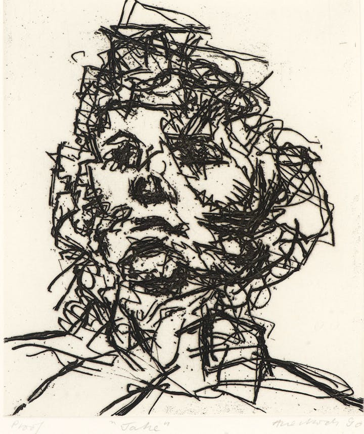 Jake (1990), Frank Auerbach. © The Artist/ Marlborough Gallery