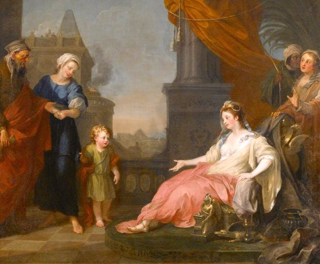 Moses Brought Before Pharoah's Daughter, , (1746), William Hogarth, The Foundling Museum