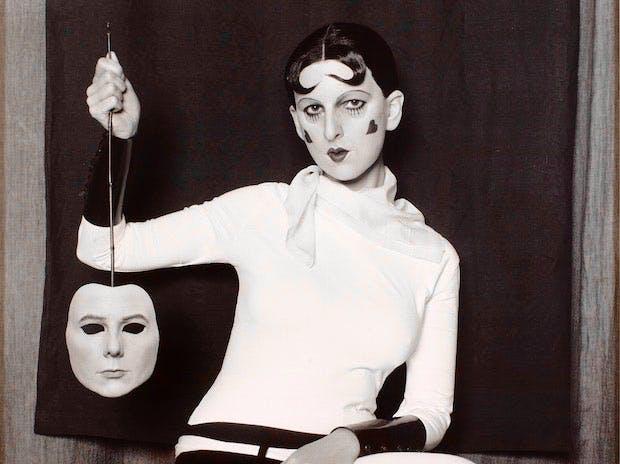 Me as Cahun holding a mask of my face (2012), Gillian Wearing. © Gillian Wearing, courtesy Maureen Paley, London; Regen Projects, Los Angeles; Tanya Bonakdar Gallery, New York