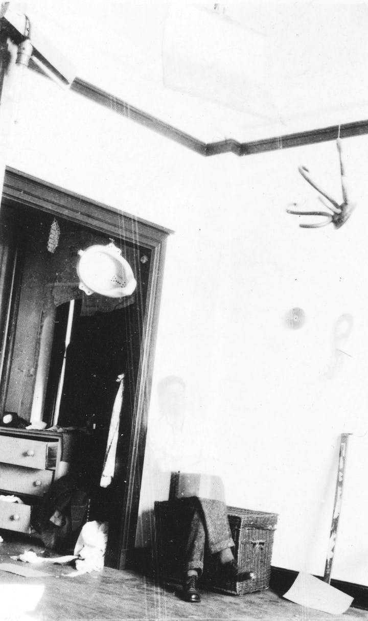 Duchamp's studio at 33 West 67th Street, New York, (1917-18), photographed by Henri-Pierre Roché.