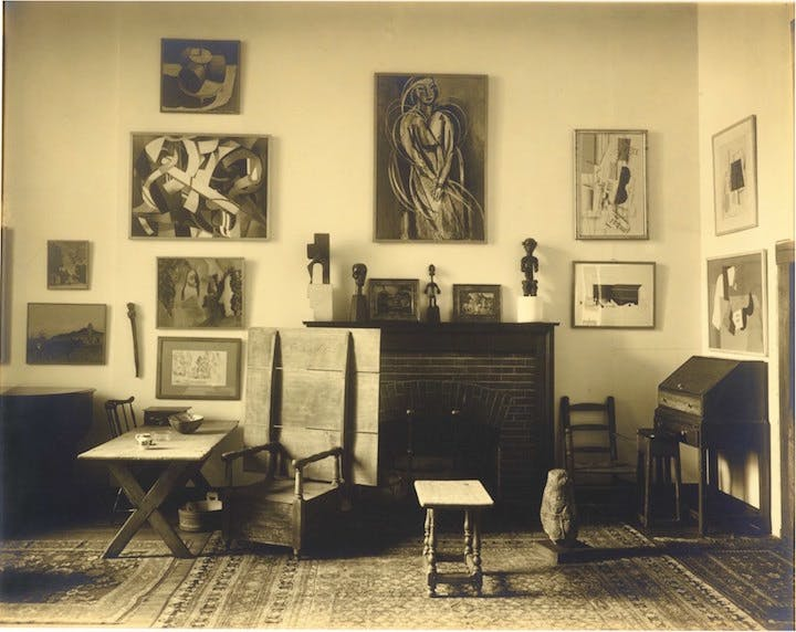 Interior, Arensberg's Apartment, New York (1919), Charles Sheeler. © The Lane Collection