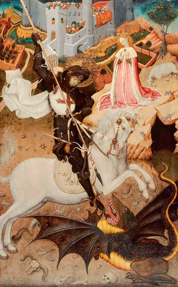Saint George Killing the Dragon (1434–35), Bernat Martorell. Art Institute of Chicago