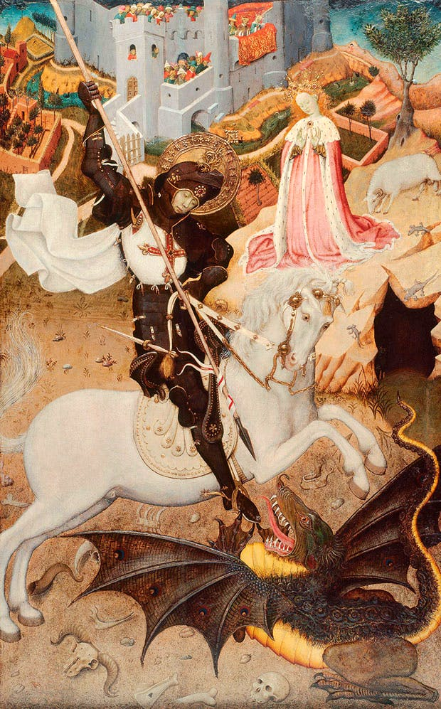 Saint George Killing the Dragon (1434–35), Bernat Martorell. Art Institute of Chicago