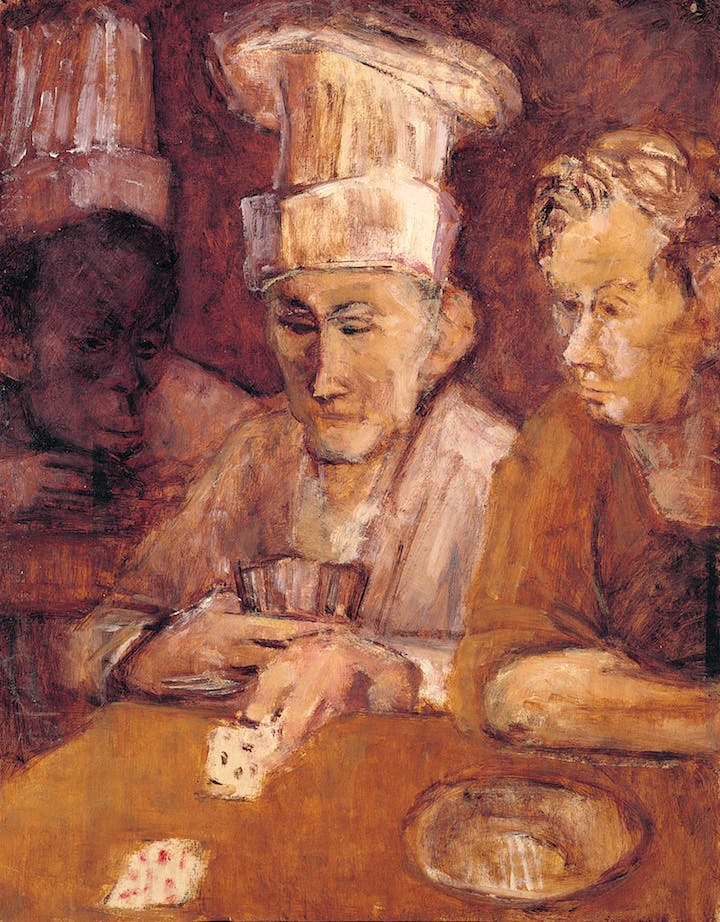 Card Players (c. 1951–56), Eva Frankfurther. © The Estate of Eva Frankfurther