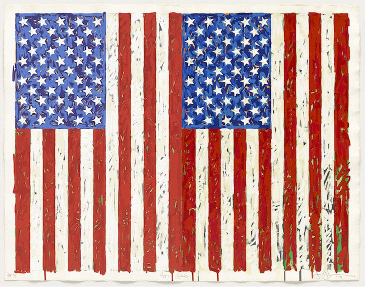 Flags I (1973), Jasper Johns. © Jasper Johns/VAGA, New York/DACS, London 2016. © Tom Powel Imaging.