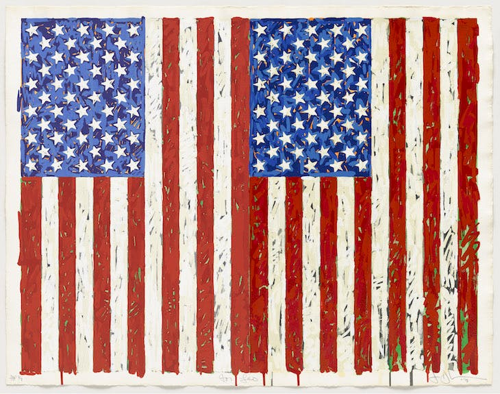 Flags I (1973), Jasper Johns. © Jasper Johns/VAGA, New York/DACS, London 2016. © Tom Powel Imaging.