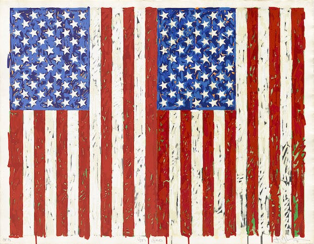 Flags I (1973), Jasper Johns. © Jasper Johns/VAGA, New York/DACS, London 2016. © Tom Powel Imaging