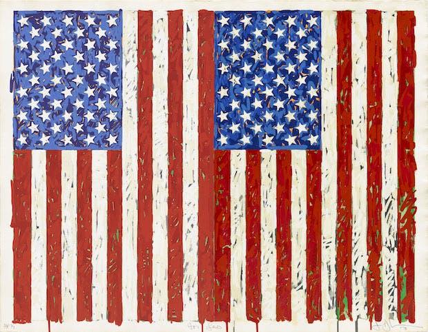 Flags I (1973), Jasper Johns. © Jasper Johns/VAGA, New York/DACS, London 2016. © Tom Powel Imaging
