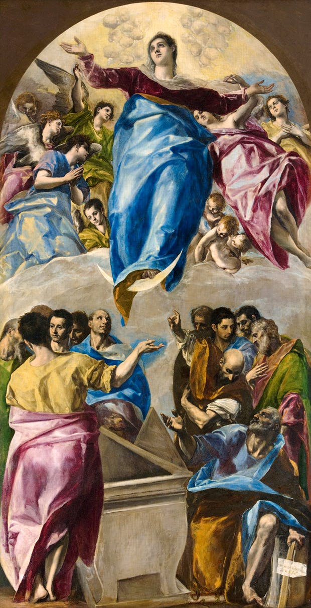The Assumption of the Virgin (c. 1577/79), Domenikos Theotokopoulos, known as El Greco. Art Institute of Chicago