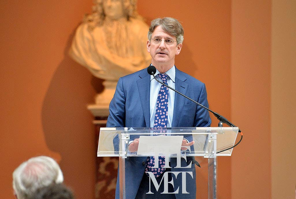 Metropolitan Museum of Art director Thomas P. Campbell has resigned. (Pictured speaking at the 'Manus x Machina: Fashion in an Age of Technology' press preview at the Metropolitan Museum of Art on May 2, 2016 in New York City.) Photo by Slaven Vlasic/Getty Images