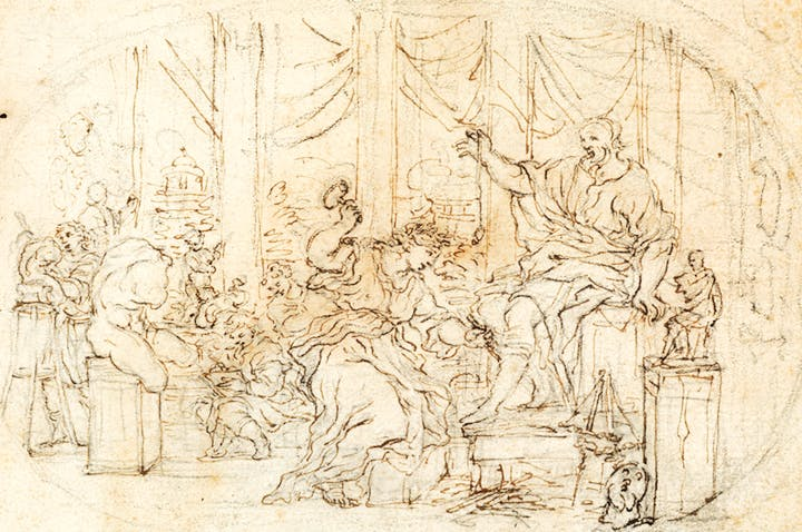 The Sculptor's Atelier, an Allegorical Scene (c. 1702), Giovanni Battista Foggini. Maurizio Nobile, €14,000