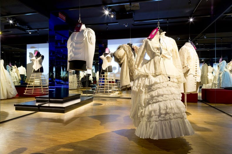 View of one of the fashion galleries in the Wonderkamers installation at the Gemeentemuseum Den Haag